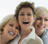 women smiling through the menopause